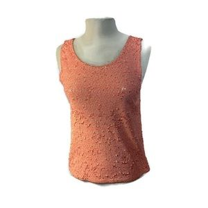 J.crew bright all over sequin tank top NWT